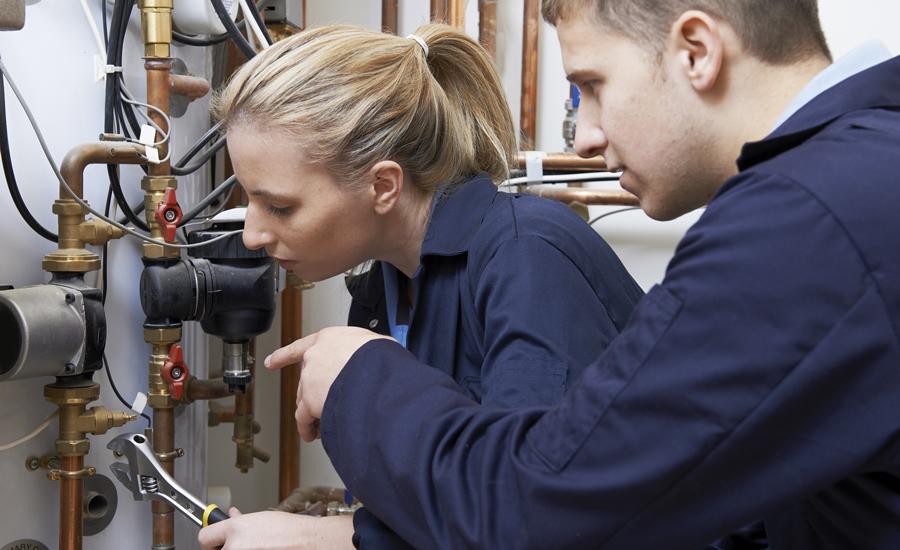 Two HVAC Technicians